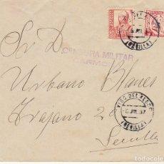 Sellos: CENSURA: VISO DEL ALCOR A SEVILLA. 1837. Lote 179395400