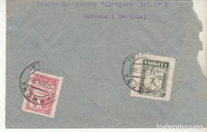 Sellos: CENSURA: CARMONA (SEVILLA) a ESTAFETA 93. - Foto 2 - 179395655