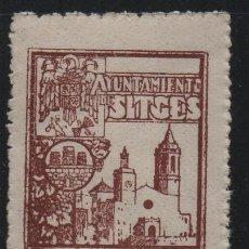 Sellos: SITGES, 50 CTS .- A.- VARIEDAD, SIN --S-- EN CENTIMOS.- SELLO MUNICIPAL, VER FOTO. Lote 179539302