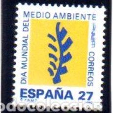 Sellos: ESPAÑA. AÑO 1992.- DÍA MUNDIAL DEL MEDIO AMBIENTE, EN NUEVO. Lote 179953837