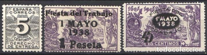 ESPAÑA, 1938 EDIFIL Nº 592, 761 / 762 /*/, (Sellos - España - Guerra Civil - De 1.936 a 1.939 - Nuevos)