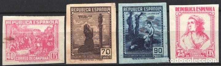 ESPAÑA, 1939 EDIFIL Nº NE49, NE52, NE53, NE54, CORREO DE CAMPAÑA, (Sellos - España - Guerra Civil - De 1.936 a 1.939 - Nuevos)