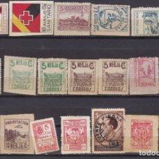 Sellos: GG7- GUERRA CIVIL LOTE 20 VIÑETAS /LOCALES / BENÉFICOS . Lote 180043323