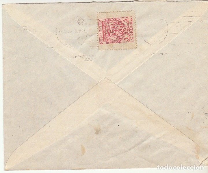 Sellos: CENSURA: CÓRDOBA a SEVILLA.1938 - Foto 2 - 180087275