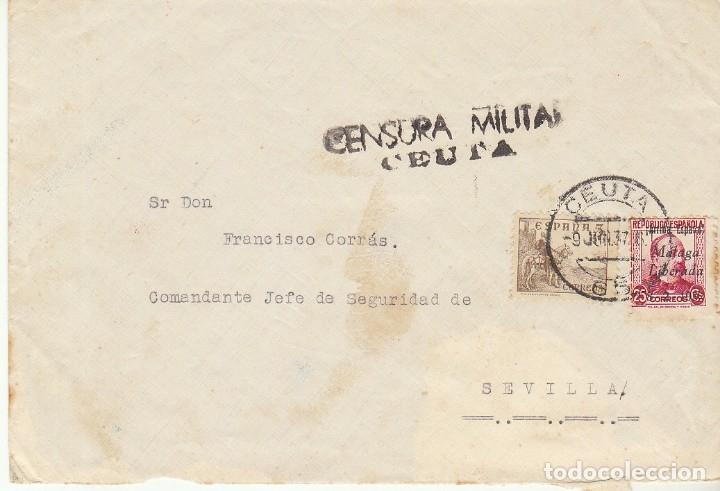 CENSURA: CEUTA A SEVILLA.1837 (Sellos - España - Guerra Civil - De 1.936 a 1.939 - Cartas)