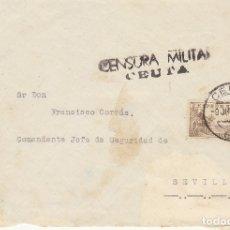 Sellos: CENSURA: CEUTA A SEVILLA.1837. Lote 180087485