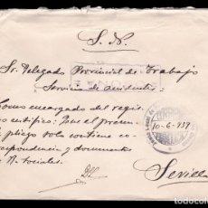 Sellos: *** CARTA OSUNA-SEVILLA 1939. FRANQUICIA REFORMAS SOCIALES Y CENSURA DE OSUNA ***. Lote 180163801