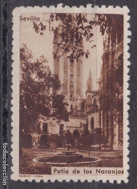 CC10- VIÑETA PATIO DE LOS NARANJOS SEVILLA. 38 X 54 MM. SIN GOMA (Sellos - España - Guerra Civil - Viñetas - Nuevos)