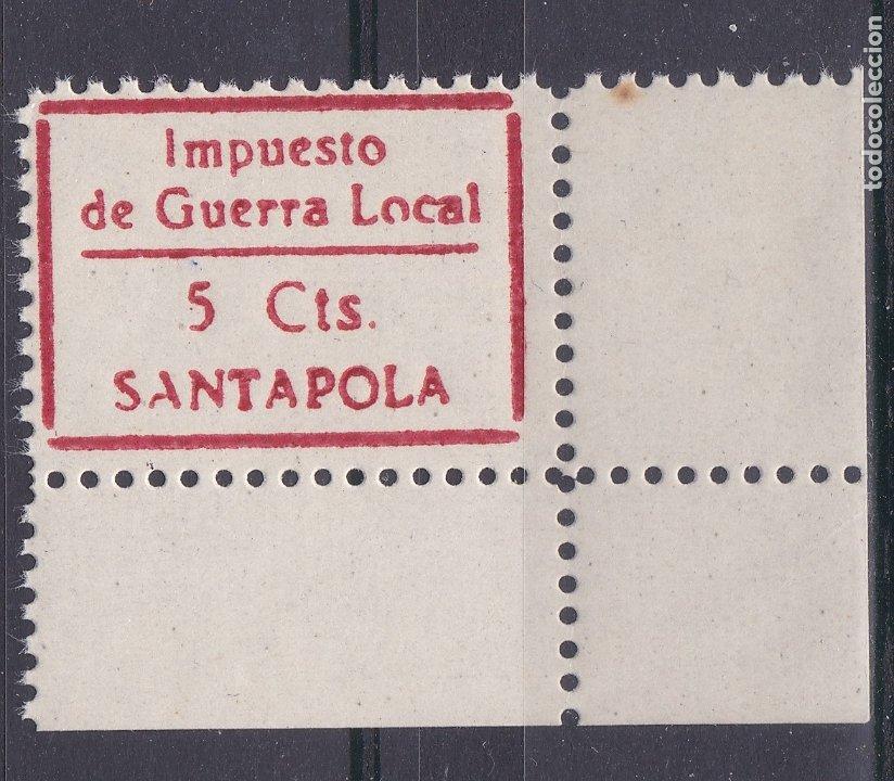 CC13- GUERRA CIVIL .LOCAL. IMPUESTO GUERRA SANTA POLA ALICANTE ** SIN FIJASELLOS. LUJO (Sellos - España - Guerra Civil - Viñetas - Nuevos)