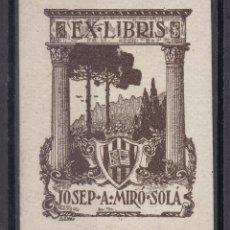 Sellos: CC14- EX LIBRIS JOSEP A. MIRÓ SOLÁ. PERFECTO . 54 X43 MM. Lote 180197018