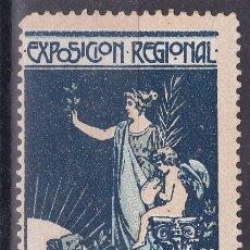 Sellos: CC14-VIÑETA EXPOSICIÓN REGIONAL VALENCIANA 1909. SIN GOMA . Lote 180197113