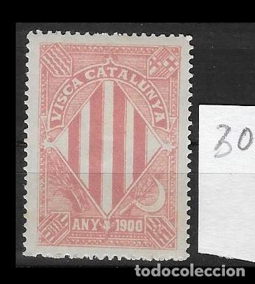VN4-4-30 VIÑETA NACIONALISTA SEPARATISTA VISCA CATALUNYA ANY 1900 NATHAN Nº 10 CON FIJASELLOS (Sellos - España - Guerra Civil - Viñetas - Nuevos)