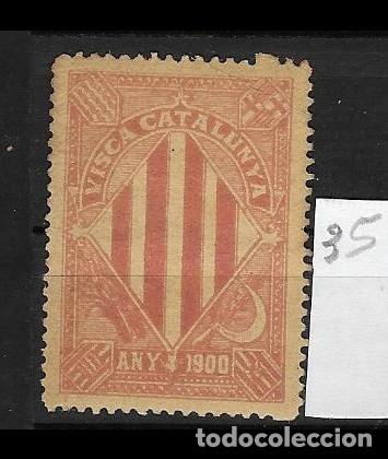 VN4-4-35 VIÑETA NACIONALISTA SEPARATISTA VISCA CATALUNYA ANY 1900 NATHAN Nº 10 SIN FIJASELLOS (Sellos - España - Guerra Civil - Viñetas - Nuevos)