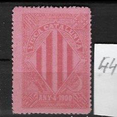 Sellos: VN4-4-44 VIÑETA NACIONALISTA SEPARATISTA VISCA CATALUNYA ANY 1900 NATHAN Nº 10 SIN GOMA. Lote 180219332