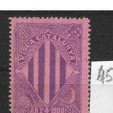 Sellos: VN4-4-45 VIÑETA NACIONALISTA SEPARATISTA VISCA CATALUNYA ANY 1900 NATHAN Nº 10 CON FIJASELLOS. Lote 180219816