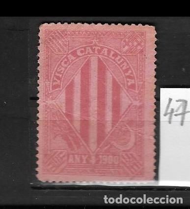 VN4-4-47 VIÑETA NACIONALISTA SEPARATISTA VISCA CATALUNYA ANY 1900 NATHAN Nº 10 (Sellos - España - Guerra Civil - Viñetas - Nuevos)