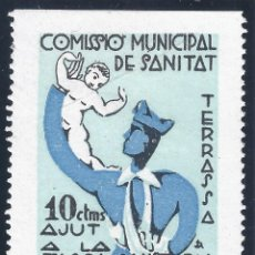 Francobolli: TERRASSA. COMISSIO MUNICIPAL DE SANITAT. AJUT A LA TASCA SANITARIA TERRASENCA. LUJO. MNH **. Lote 180225507