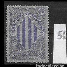 Sellos: VN4-4-56 VIÑETA NACIONALISTA SEPARATISTA VISCA CATALUNYA ANY 1900 NATHAN Nº 10 CON FIJASELLOS PUNTO . Lote 180225572