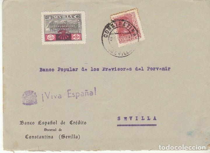 CENSURA: CONSTANTINA A SEVILLA. (Sellos - España - Guerra Civil - De 1.936 a 1.939 - Cartas)