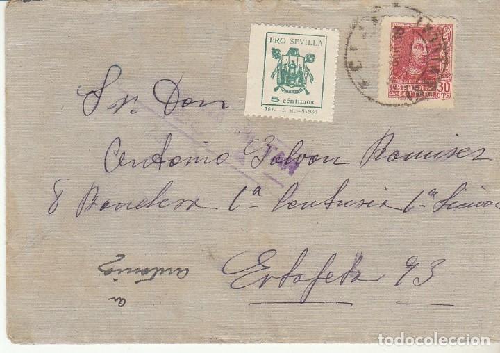 CENSURA: ECIJA (SEVILLA) A ESTAFETA 93. (Sellos - España - Guerra Civil - De 1.936 a 1.939 - Cartas)