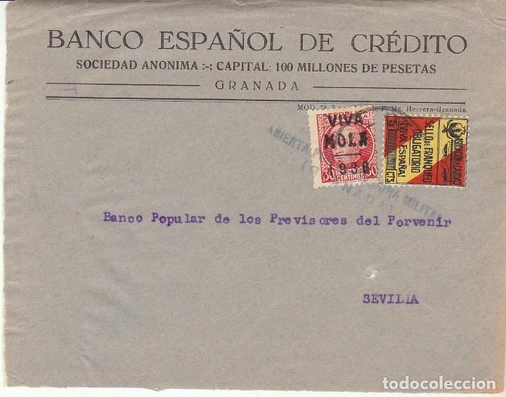 CENSURA: FRAGMENTO. GRANADA A SEVILLA. (Sellos - España - Guerra Civil - De 1.936 a 1.939 - Cartas)