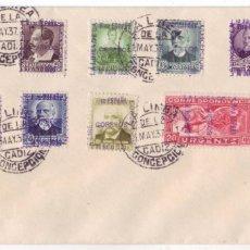 Sellos: LA LÍNEA DE LA CONCEPCIÓN (CÁDIZ): SOBRE CON FRANQUEO FILATELICO 18 DE JULIO DE 1936. Lote 180340576