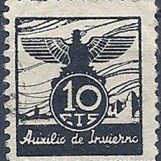 Sellos: [CF7214] ESPAÑA 1937, AUXILIO DE INVIERNO 10 CTS (U). Lote 180467145