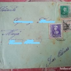 Sellos: ANTIGUA CARTA GUERRA CIVIL CENSURA MILITAR 1939 CENSURA HUELVA SELLO ISABEL FERMANDO CID. Lote 180490251