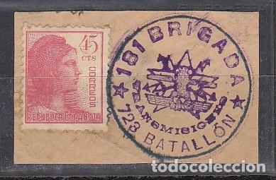 FRAGMENTO : 2 V. (Sellos - España - Guerra Civil - De 1.936 a 1.939 - Cartas)