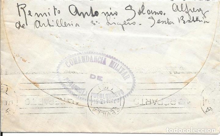 Sellos: GUERRA CIVIL. SOBRE DE PEÑARROYA A SEVILLA. REGIMIENTO DE ARTILLERIA Nº 3 - Foto 2 - 181079327