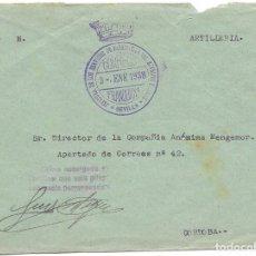 Sellos: GUERRA CIVIL. EJERCITO SUR JEFATURA SERVICIOS DE FABRICACION SOBRE DE SEVILLA A CORDOBA 1938. Lote 181082030