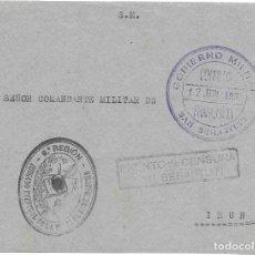 Sellos: GUERRA CIVIL. FRONTAL CIRCULADO DE SAN SEBASTIAN A IRUN. 1937. Lote 181085206