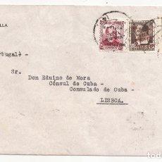 Sellos: 1936 SOBRE DE SEVILLA A LISBOA SELLOS LOCALES GUERRA CIVIL. Lote 181231047