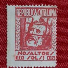 Sellos: VIÑETA REPUBLICA CATALUÑA NOSALTRES SOLS 10 CTS. Lote 181806785
