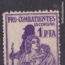 Francobolli: MM36- GUERRA CIVIL . LOCAL PRO COMBATIENTES LA CORUÑA 1 PTA . SIN GOMA. Lote 181948010