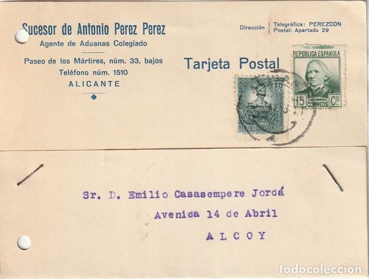 TARJETA POSTAL PRIVADA (1938) (Sellos - España - Guerra Civil - De 1.936 a 1.939 - Cartas)