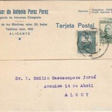 Sellos: TARJETA POSTAL PRIVADA (1938). Lote 181999922