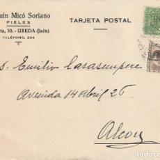 Sellos: TARJETA POSTAL PRIVADA (MATASELLOS CONTROLADO UGT - CNT) (1937). Lote 182000601