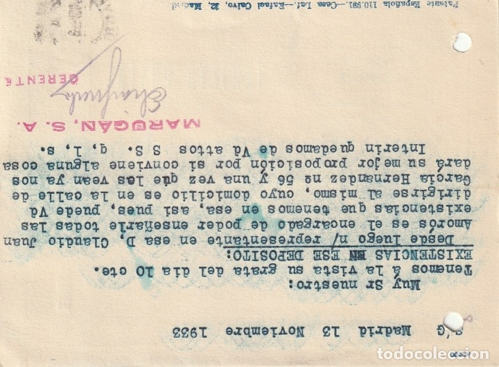 Sellos: TARJETA POSTAL PRIVADA (1933) - Foto 2 - 182001197