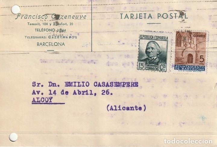 TARJETA POSTAL PARTICULAR (1937) (Sellos - España - Guerra Civil - De 1.936 a 1.939 - Cartas)