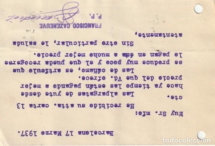 Sellos: TARJETA POSTAL PARTICULAR (1937) - Foto 2 - 182014822