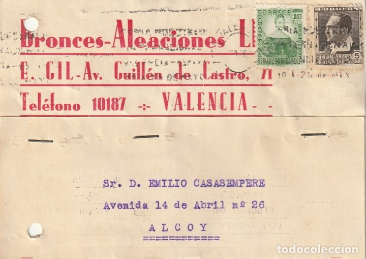 TARJETA POSTAL PARTICULAR (1936) (Sellos - España - Guerra Civil - De 1.936 a 1.939 - Cartas)