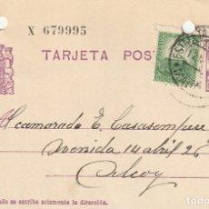 Sellos: TARJETA POSTAL DE LA 2ª REPÚBLICA (1937). Lote 182016706