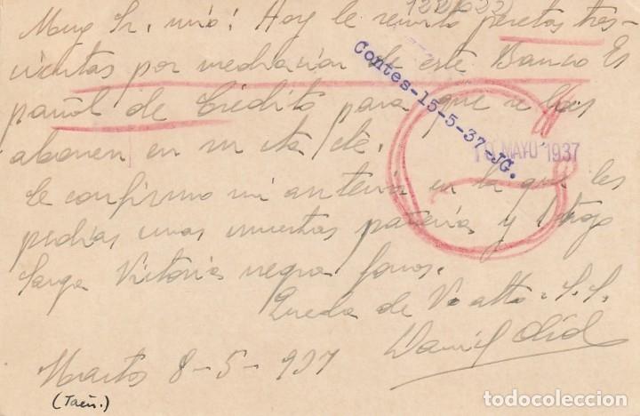 Sellos: TARJETA POSTAL DE LA 2ª REPÚBLICA (1937) - Foto 2 - 182016780