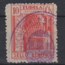Sellos: 1937 TUDELA SELLO BENEFICO - GUERRA CIVIL ESPAÑOLA (º). Lote 182247293