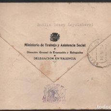 Francobolli: CARTA DE VALENCIA DIRECCION GRAL. EVACUADOS Y REFUGIADOS- REPUBLICANA,.VER FOTOS. Lote 182481386