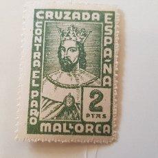 Sellos: CRUZADA CONTRA EL PARO-2 PESETAS MALLORCA. Lote 182600722