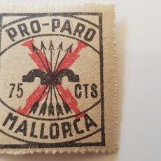 Sellos: CRUZADA CONTRA EL PARO-75 CTS MALLORCA. Lote 182600983