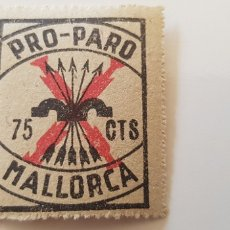 Sellos: CRUZADA CONTRA EL PARO-75 CTS MALLORCA. Lote 182601026