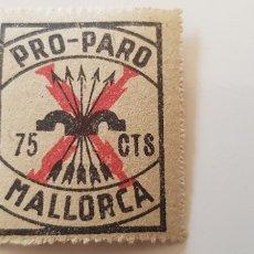 Sellos: CRUZADA CONTRA EL PARO-75 CTS MALLORCA. Lote 182601040